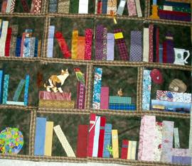 Bountiful Bookshelf Opportunity Quilt Raffle For Chevy Chase Library 40th Anniversary